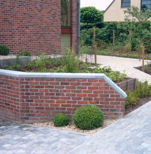 constructiewerken in de tuin